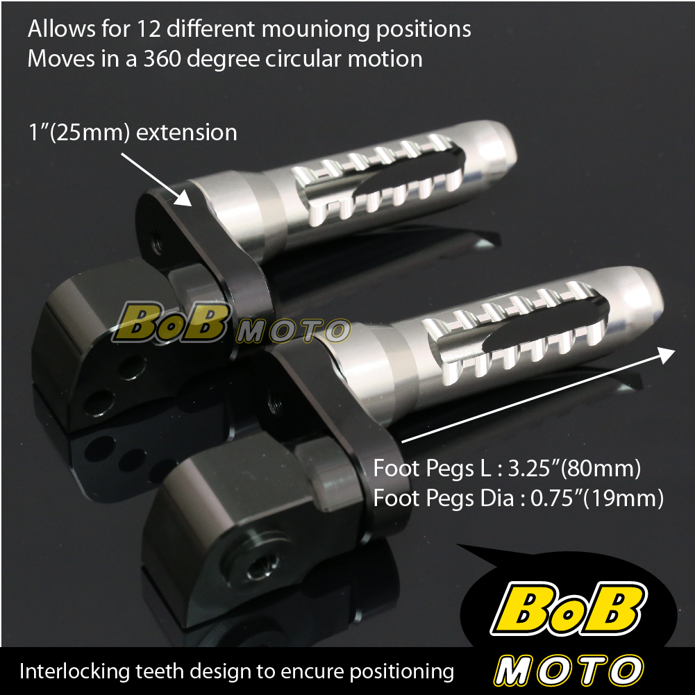 For-Suzuki-GSX-1400-01-02-03-04-05-06-TITANIUM-25mm-Adjustable-Rear-Foot-Pegs