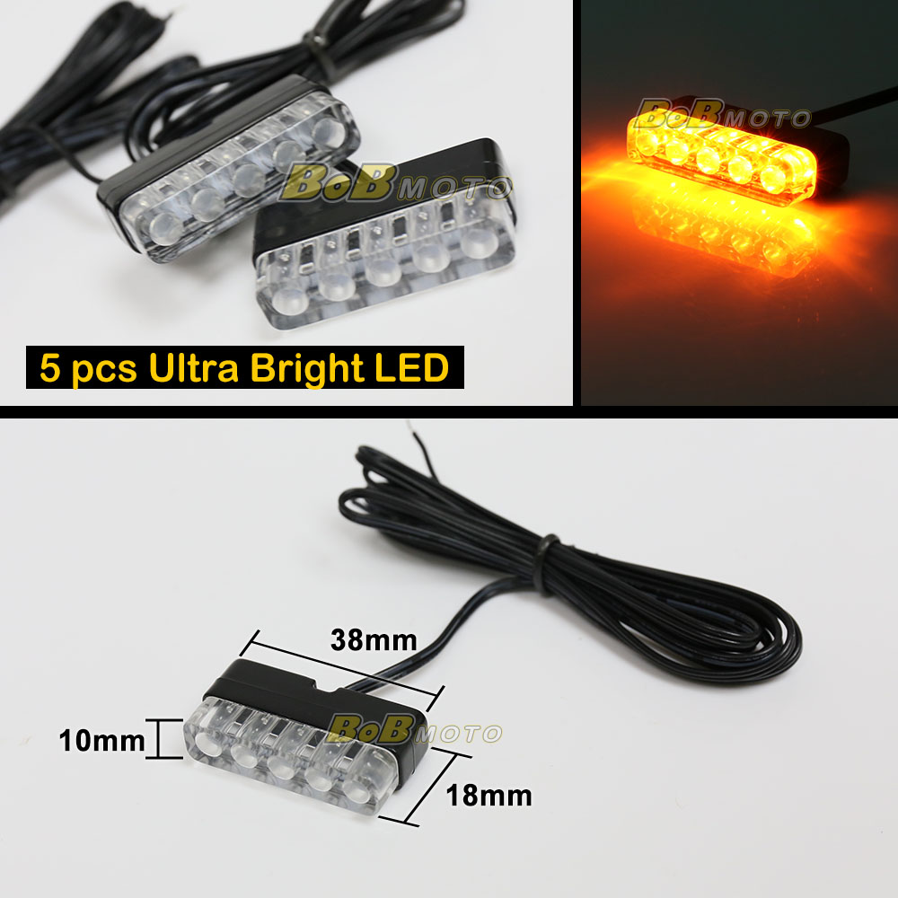 emit 12v yellow mini led indicator blinker set for honda. Black Bedroom Furniture Sets. Home Design Ideas